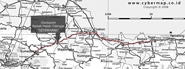 Rute Touring Tegal 2009