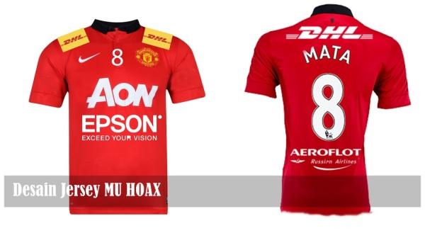 Desain jersey MU Hoax